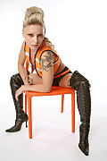 Liliane Tiger Demolition girl istripper model