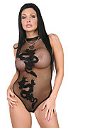 Aletta Ocean Black dragon istripper model