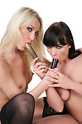Susan Snow & Ally Style Duo istripper model