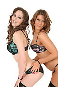 Tina Kay & Lilly White Duo istripper model