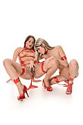 Gina Gerson & Savannah Secret Duo istripper model