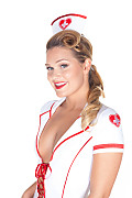Abby Cross Nurse istripper model