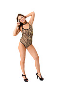 Emma Brown Leopard Print Lovely  istripper model